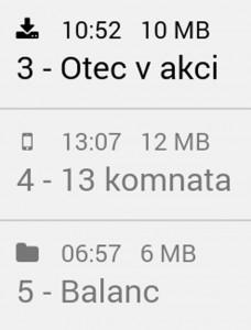 Indikácia stiahnutia súboru audioknihy
