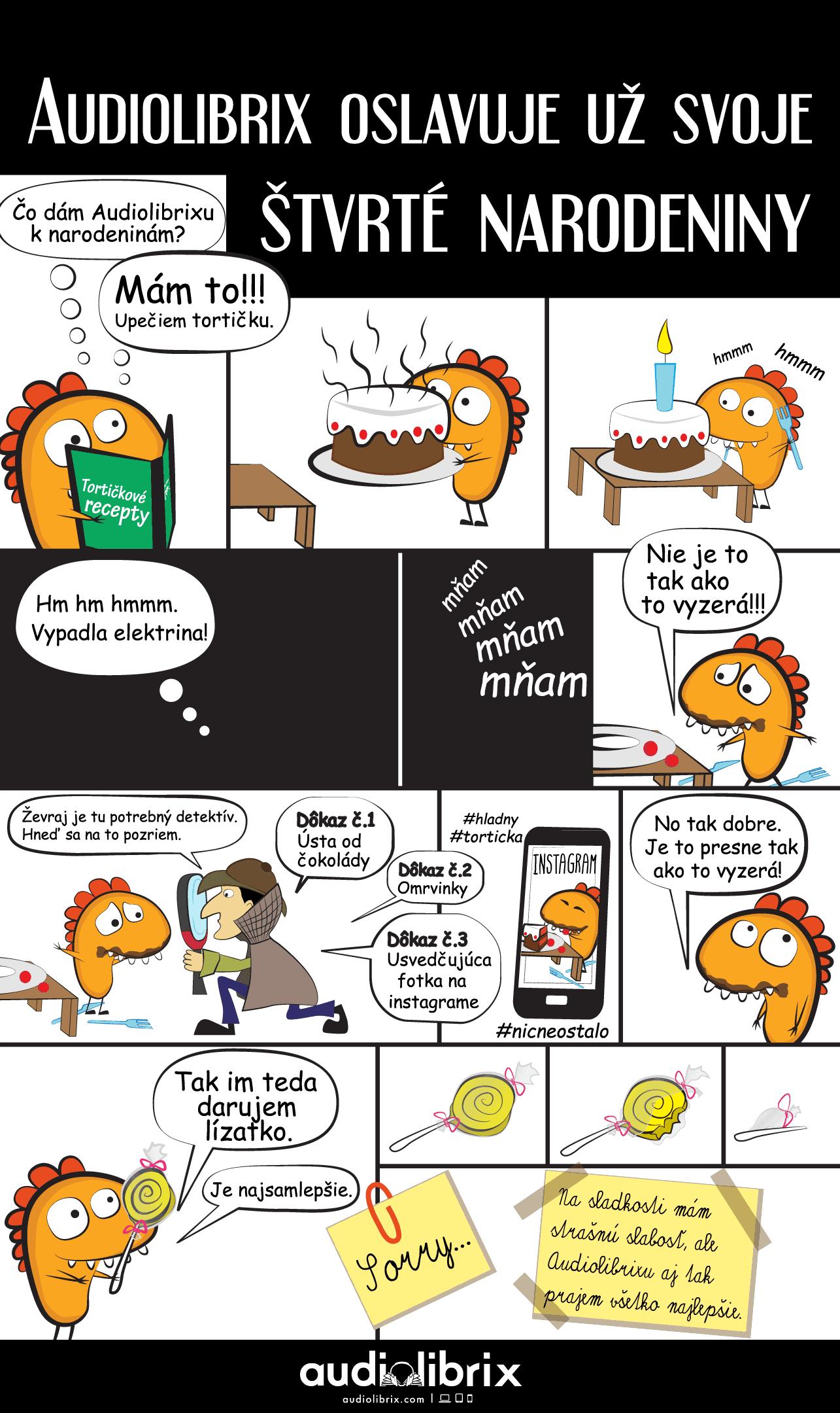 Komiks s Audinem - Narozeninová tortička