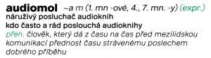 Audiomol - náruživý posluchač a konzument audioknih